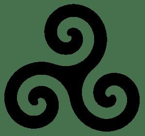 Le Triskèle, un symbole de la Bretagne. / The Triskell, a symbol of Brittany.